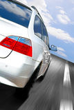 Car speeding Stock Photo