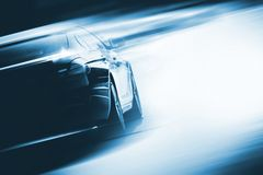 Speeding Car Background Royalty Free Stock Photo