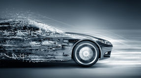 Speeding car concept Royalty Free Stock Image