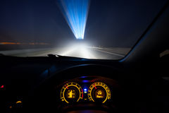 Speeding car  dashboard Stock Image