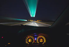 Speeding car  dashboard Royalty Free Stock Photo