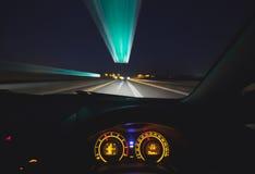 Speeding car  dashboard Royalty Free Stock Photo