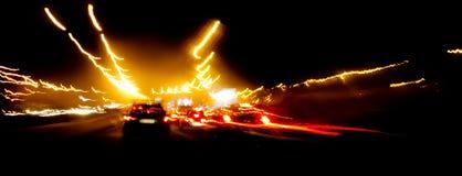 Speeding car on highway Royalty Free Stock Image