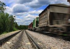Speeding cargo train Royalty Free Stock Image