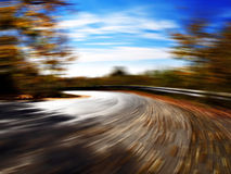 Speeding in a curve Stock Photos