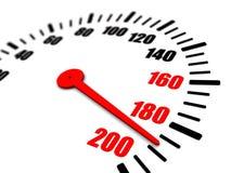 3 speeding on the dial. 3d illustration of speedometer shows speeding Royalty Free Stock Image