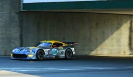 Speeding Dodge SRT race car Royalty Free Stock Photo