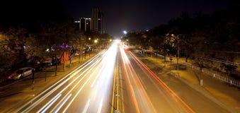 Speeding Down City Streets Stock Image