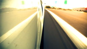 Speeding Down Highway Low Angle stock video