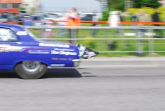 Speeding dragster Royalty Free Stock Images