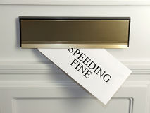 Speeding Fine. An unwelcome surprise - a Speeding Fine arrives in the mail royalty free stock images