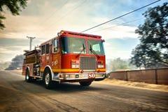 Speeding Fire Truck Royalty Free Stock Photography