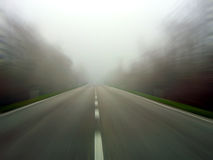 Speeding in the fog royalty free stock photos