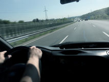 Speeding on the highway. Royalty Free Stock Photos