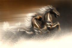Speeding horses Stock Photo