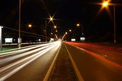 Speeding lights stock images