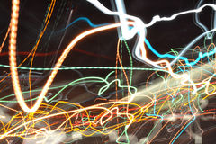 Speeding lightshow Royalty Free Stock Photo