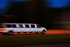 Speeding limo Royalty Free Stock Photo