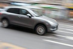 Speeding limousine Stock Photo