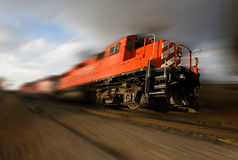 Speeding locomotive Stock Images