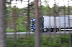 Speeding lorry Royalty Free Stock Image