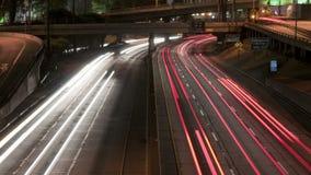 Speeding los angeles highway cars stock footage