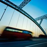 Speeding motion bus Royalty Free Stock Photography