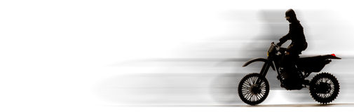 Speeding motor bike Royalty Free Stock Photography