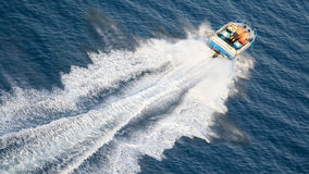 Speeding motor boat Stock Photography