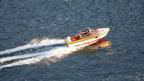 Speeding motor boat Royalty Free Stock Photo