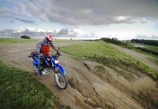 Speeding motorbike Stock Photos