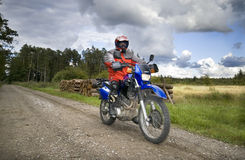 Speeding motorbike Royalty Free Stock Photography