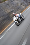 Speeding Motorcycle Blur Royalty Free Stock Image