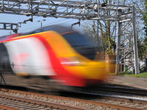 Speeding pendolino train Stock Photos
