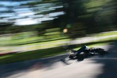Speeding race car Royalty Free Stock Image