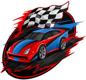 Speeding Racing Car Design Royalty Free Stock Photography