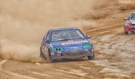 Speeding racing car in srilanka Royalty Free Stock Photography