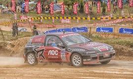 Speeding racing car in srilanka Royalty Free Stock Image