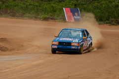 Speeding racing car in srilanka Royalty Free Stock Photography