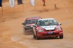Speeding racing car in srilanka Royalty Free Stock Images
