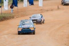 Speeding racing car in srilanka Stock Image