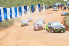 Speeding racing car in srilanka Royalty Free Stock Photo
