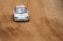 Speeding racing car in srilanka Stock Image