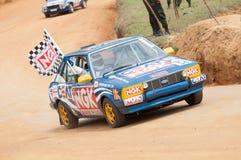 Speeding racing car in srilanka Stock Photo