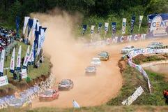 Speeding racing car in srilanka Royalty Free Stock Photos