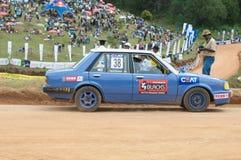 Speeding racing car in srilanka Stock Images