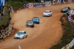 Speeding racing cars in srilanka Stock Image