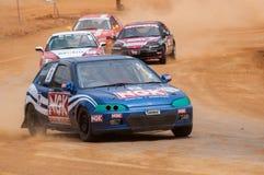 Speeding racing cars in srilanka Stock Photo