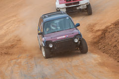 Speeding racing 4X4 in srilanka Royalty Free Stock Images