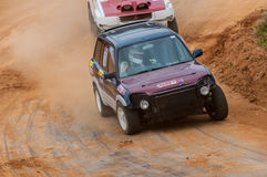 Speeding racing 4X4 in srilanka Stock Photography